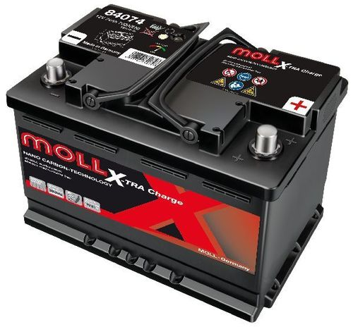 Starterbattterie MOLL X-TRA Charge 12V 75Ah - 720A
