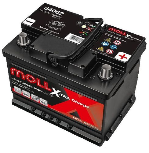 Starterbattterie MOLL X-TRA Charge 12V 62Ah - 600A