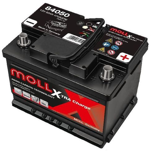 Starterbattterie MOLL X-TRA Charge 12V 50Ah - 450A