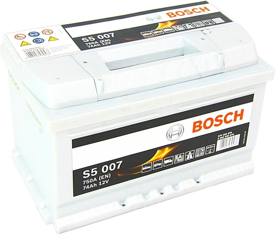 starterbatterie s5 bosch 12v 74ah 750a autobatterien. Black Bedroom Furniture Sets. Home Design Ideas
