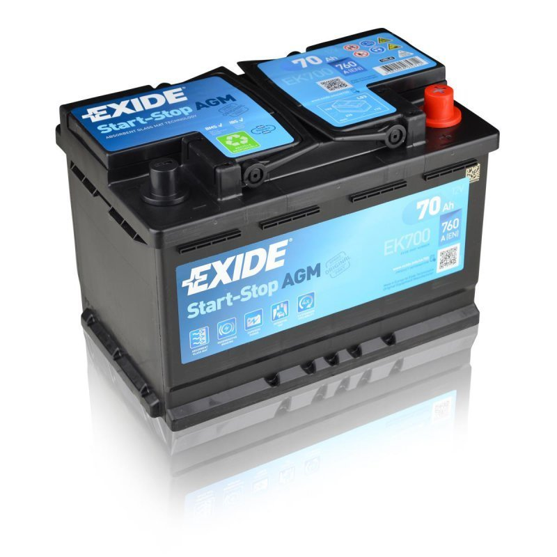 exide batterie agm 12v 70ah autobatterien g. Black Bedroom Furniture Sets. Home Design Ideas