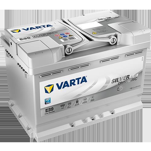 70ah 12v AGM-toile Batterie vrla varta silver Dynamic AGM e39
