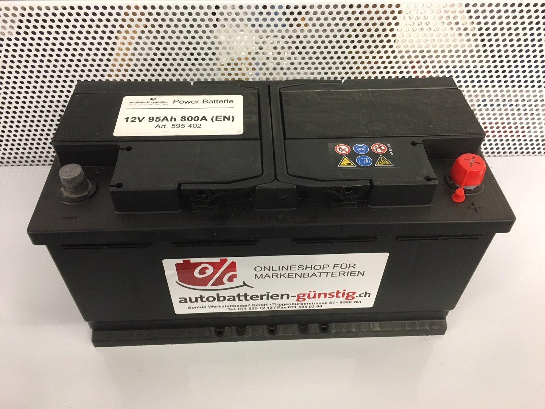power starterbatterie 12v 95ah 800a autobatterien g. Black Bedroom Furniture Sets. Home Design Ideas